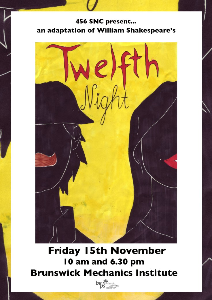 twelfth night poster A3