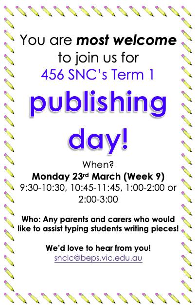 Publishing day