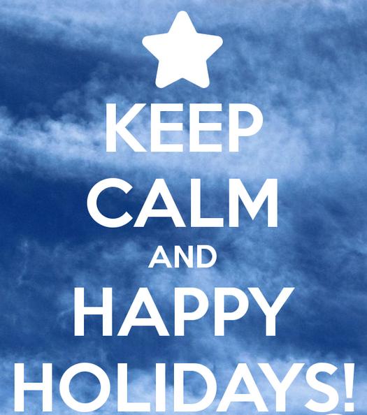 Enjoy your holidays SNC!